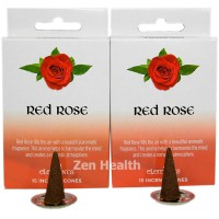 Elements Red Rose Incense Cones x 2 Boxes 30 Large Cones