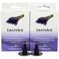 Elements Lavender Incense Cones x 2 Boxes 30 Large Cones