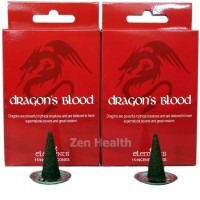 Elements Dragons Blood Incense Cones x 2 Boxes 30 Large Cones