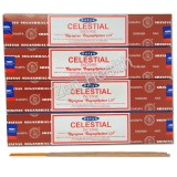 Satya Celestial Sandalwood and Vanilla Incense Sticks x 4 Packs