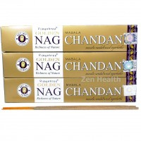 Golden NAG Champa Chandan Incense Sticks Natural Spices, Herbs, Oils x 3 Packs