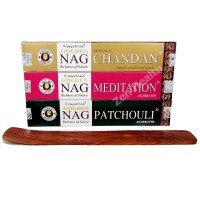 Golden NAG Champa Chandan | Patchouli | Meditation Incense Sticks and Ash Catcher