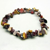 Natural Mookaite Jasper Gemstone Bracelet Elasticated