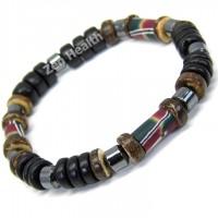 Black and Brown Leather Bracelet