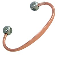 Magnetic Bracelet - Copper Torque Design - Ladies Size