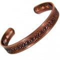 Magnetic Copper Bracelet With Swirl Design - Medium Size