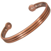 Magnetic Bracelet - Copper Three Bands Design  - XL Size