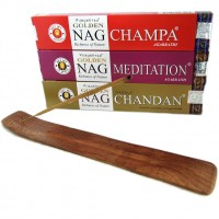 Golden Nag Champa - Chandan - Meditation and Free Ash Catcher
