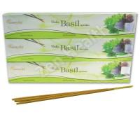 3 x Vedic Basil Incense Stick Packs - Basil, Sandalwood and Vanilla