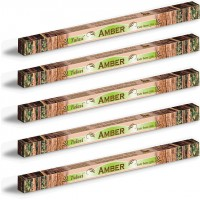 5 x Tulasi Amber Incense Sticks Packs - Warm Rich Earthy Aroma