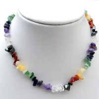 Chakra Necklace Full 7 Chakra With Chipped Stones For Reiki Healing