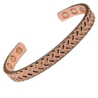Magnetic Bracelet - Copper Zig-Zag Design - Medium Size