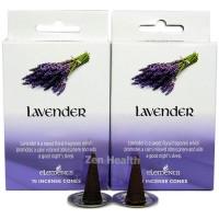 Elements Lavender Incense Cones x 2 Boxes 30 Large Cones