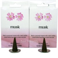 Elements Musk Incense Cones x 2 Boxes 30 Large Cones