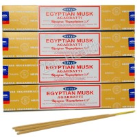 Satya Nag Champa Egyptian Musk Incense Sticks x 4 Packs