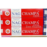 Golden NAG Champa Incense Sticks With Natural Spices, Herbs and Oils x 3 Packs