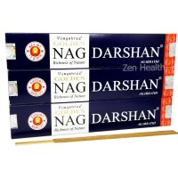 Golden Nag Champa Darshan Incense Sticks x 3 Packs