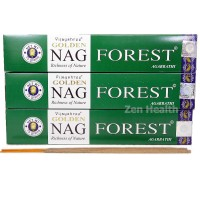 Golden Nag Champa Forest Incense Sticks Natural Spices, Herbs, Oils x 3 Packs