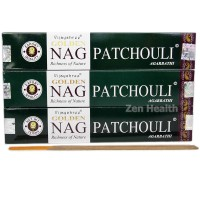 Golden Nag Champa Patchouli Incense Sticks x 3 Packs