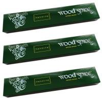 Nandita Wood Spice Incense Sticks Natural Spices, Herbs, Oils x 3 Packs