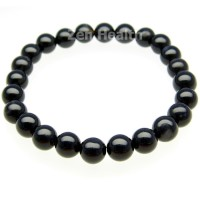Black Agate Bracelet With Chakra Healing Stones