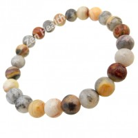 Crazy Lace Agate 8mm Natural Gemstone Bracelet