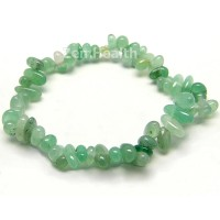 Natural Green Aventurine Chipped Gemstone Bracelet