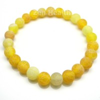 Honey Crystal Gemstone Stretch Bracelet – Healing Benefits