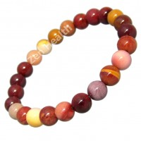 Australian Mookaite 8mm Natural Healing Beaded Stretchable Bracelet