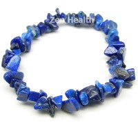 Natural Lapis Lazuli Chipped Gemstone Bracelet Elasticated