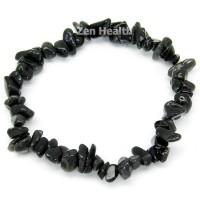Natural Black Onyx Chipped Stretchable Bracelet