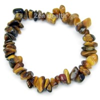 Natural Tiger's Eye Stretchable Chipped Gemstone Bracelet