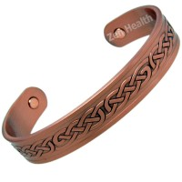 Magnetic Copper Bracelet With Celtic Knot Design - Medium Size
