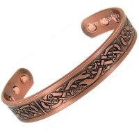 Magnetic Copper Bracelet With Phoenix Celtic Design  - Large Size