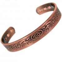 Magnetic Copper Bracelet With Phoenix Design  - Medium Size