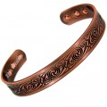 Magnetic Copper Bracelet With Swirl Design - Medium Size