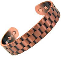 Magnetic Copper Bracelet With Watch Strap Design - Medium Size