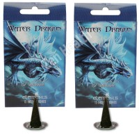 Water Dragon Patchouli Incense Cones With Holder Plates