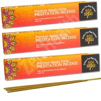 Premium Meditation Masala Incense Sticks – Golden Tree Nag Champa