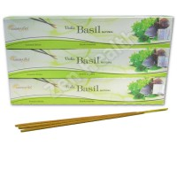 3 x Vedic Basil Incense Stick Packs - Basil, Sandalwood and Vanilla