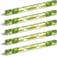 5 x Tulasi Apple Incense Sticks Packs - Soft Fresh Soothing Aroma