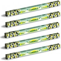 5 x Tulasi Camomile Incense Sticks Packs - Anti-Stress Calming Aroma