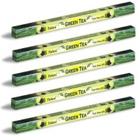 5 x Tulasi Green Tea Incense Sticks Packs - Anti-Stress Calming Aroma