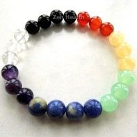 Chakra Bracelet Full 7 Chakra With Round Stones For Healing and Balancing
