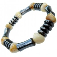 Natural Hematite Magnetic Healing Bracelet With Beads