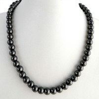 Magnetic Hematite Necklace - 8mm Round Beads
