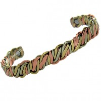 Magnetic Twisted Spaghetti Design Bracelet  - Medium Size