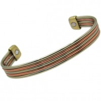 Magnetic Five Bands Copper Bracelet - Medium Size