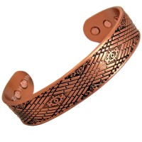 Magnetic Copper Bracelet With Celtic Design and Six Magnets - Medium Size