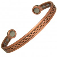 Magnetic Copper Bracelet With Celtic Design and Large Magnets - Medium Size